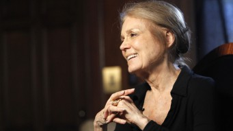 17 Mar 2010, BEVERLY HILLS, CA, United States --- Pioneering feminist Gloria Steinem smiles while she is being interviewed in Beverly Hills, California March 16, 2010. As she turns 76 next week, the woman who walked the front lines of American feminism in the 1960s and 1970s -- often in a miniskirt, big glasses and buttons with colorful expletives -- celebrates her good health and